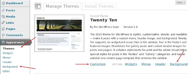 Activate Twenty Ten Theme in WordPress
