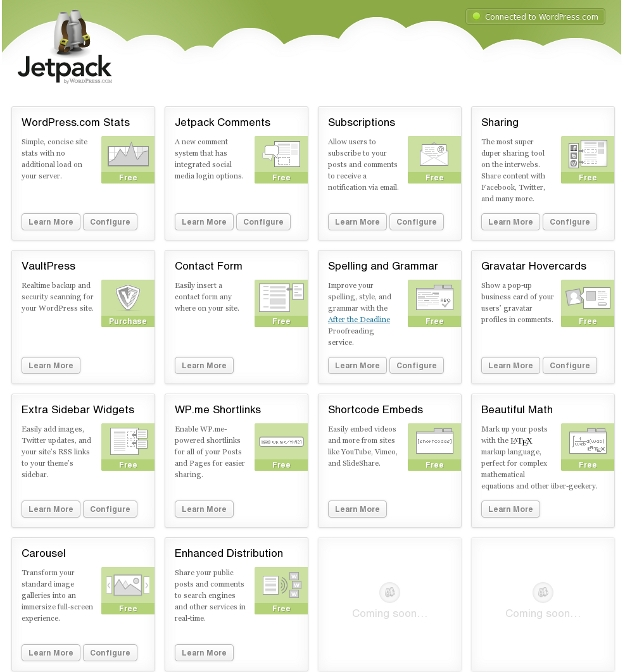 Jetpack WordPress Plugin Features