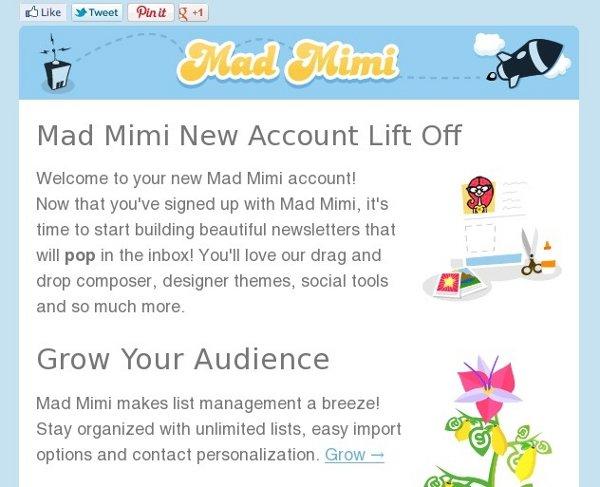 Mad Mimi Email Marketing Sample
