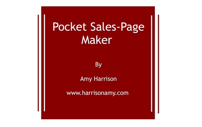 Pocket Sales-Page Maker by Amy Harrison