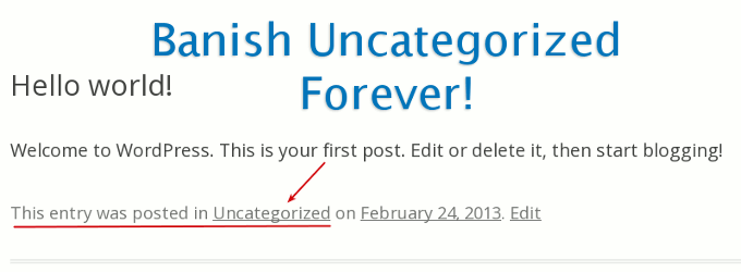 remove uncategorized post category