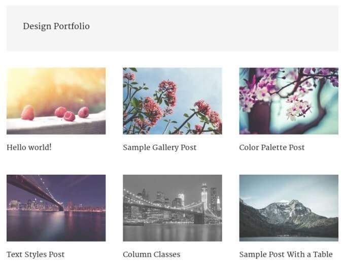 category design portfolio page