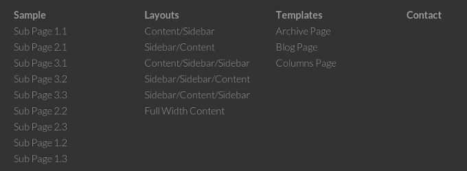 genesis primary menu inline in footer