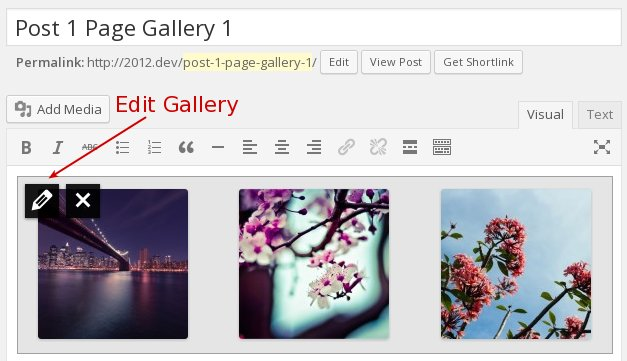 edit WordPress gallery
