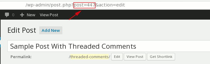 view post id in browser url bar