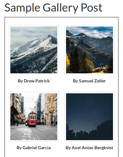 default gallery goes to 2 columns on genesis child theme