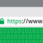 green padlock showing secure https website