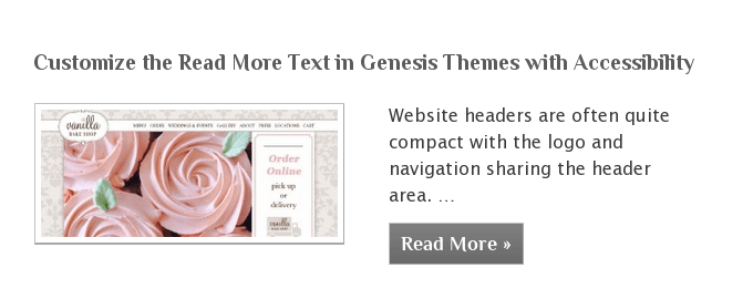 Customize the Read More Text in Genesis Themes with Accessibility