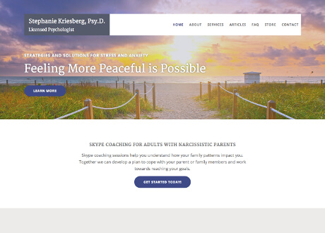 Genesis Theme Customization for Psychologist Website