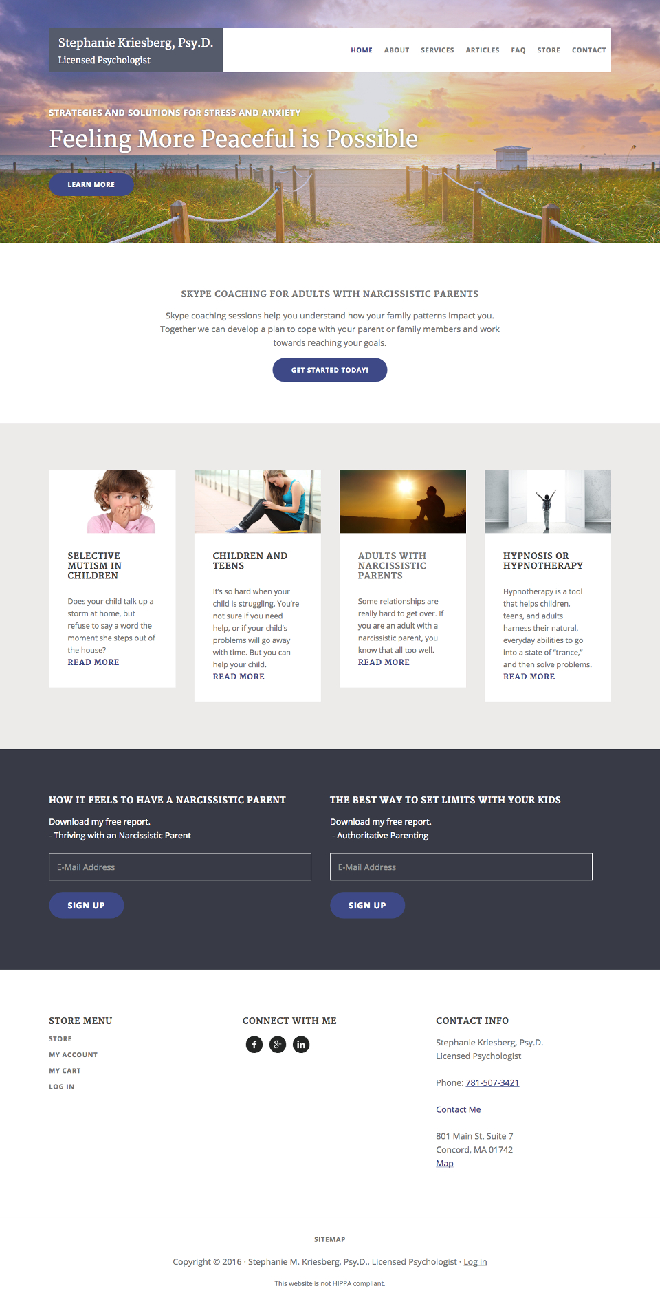 Genesis Theme Customization for Psychologist Website | Amethyst