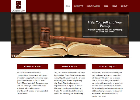 WordPress Theme Customization for Law Firm