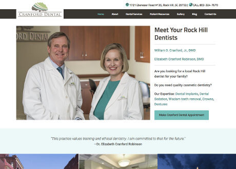 Customized Genesis Theme for a Dental Business Website