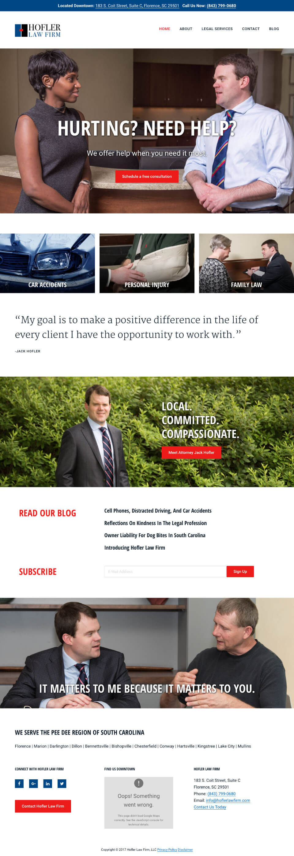 law firm website genesis theme customization