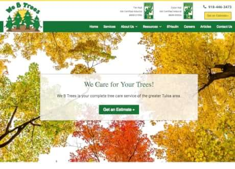 genesis theme customization for tree care website
