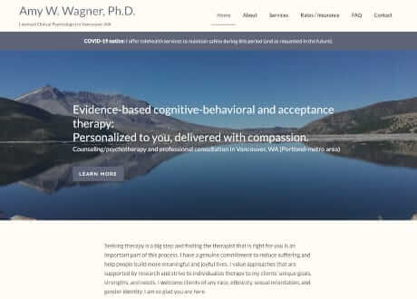 psychologist website using Genesis pre-made theme